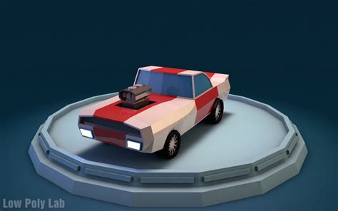 3d low poly car download