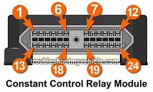 Constant Control Relay Module Pinout  1996