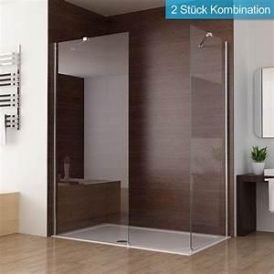 Walk In Dusche : duschabtrennung walk in duschwand seitenwand dusche duschtrennwand echtglas 70 90x195cm miqu ~ One.caynefoto.club Haus und Dekorationen