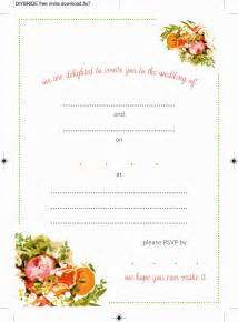diy wedding program templates blank wedding invitation templates for microsoft word