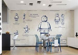 Küche Wandgestaltung Ideen : k che tapete kueche gemeinsamer wohnraum kueche essbereich tapeten lego muster tapete f r ~ Sanjose-hotels-ca.com Haus und Dekorationen