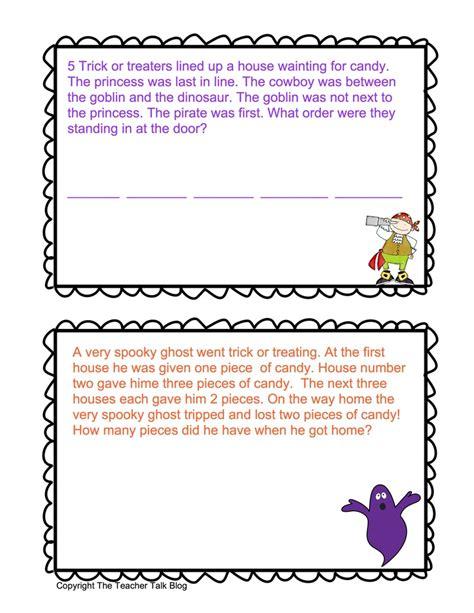 halloween math word problems dyi pinterest