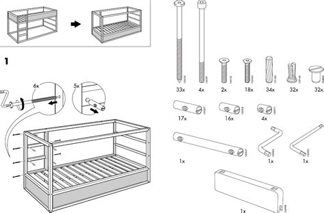 ikea beds kura reversible bed 38x75 quot pdf assembly