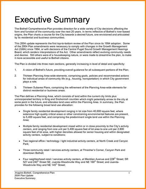 6 executive summary format apa points of origins
