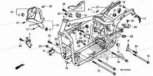 Honda Motorcycle 2010 Oem Parts Diagram For Frame