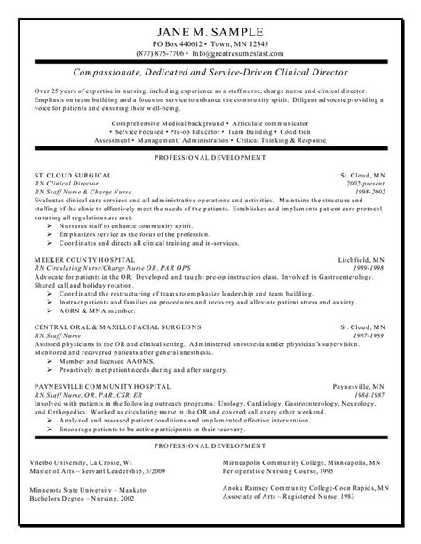 Exles Of Registered Resumes by Clinical Experience On Nursing Resume Search