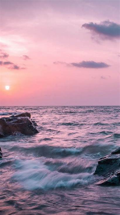 Aesthetic Ocean Wallpapers Sunset Iphone Fond Backgrounds