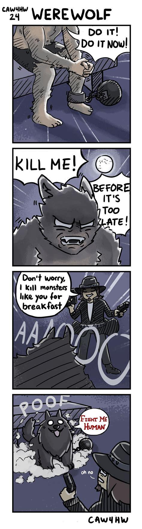 werewolf comics oc funny redd cartoons humor expand jokes