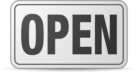 Open Sign Black · Free Vector Graphic On Pixabay