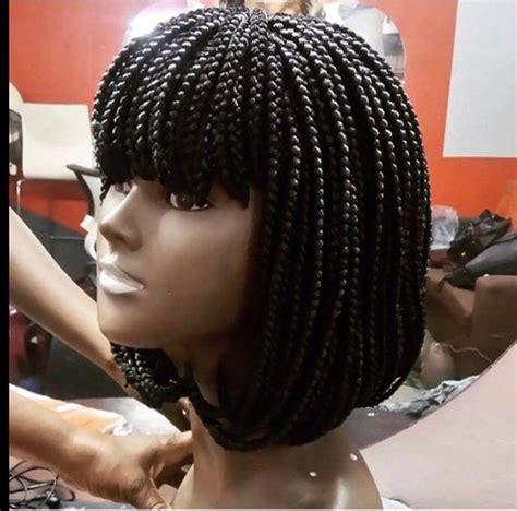 braided wig bang braided wig fringe bob  box braids