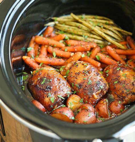 cuisine ivoirienne en recette de poulet et légumes miel et ail à la mijoteuse