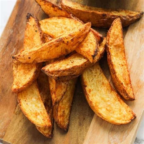 potato wedges fryer air homemade recipes cookitrealgood sweet baked crispy potatoes oven recipe burger easy restaurant outside