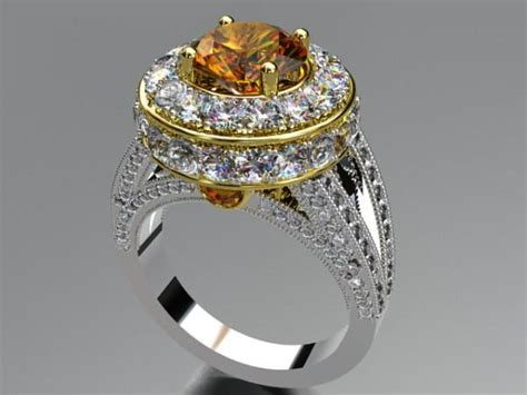 rhino  jewel cad matrix design diamond gold jewelry