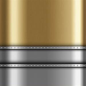 Metallic background with gold and silver metal Vector