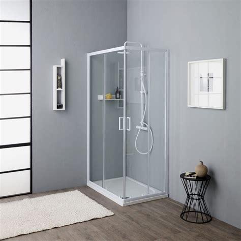 cabine doccia 70x100 box doccia cristallo trasparente 4 mm 2 lati scorrevoli