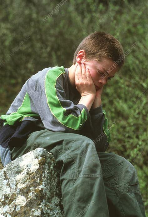 Depressed Boy Stock Image M2450703 Science Photo