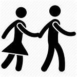 Icon Couple Walk Romantic Proposal Date Human