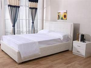 Lit 140 Blanc : lit alex 140 x 190 cm blanc 92741 ~ Teatrodelosmanantiales.com Idées de Décoration