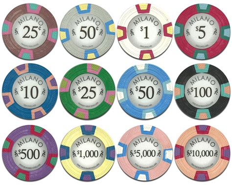 chip values all claysmith gaming milano poker chips
