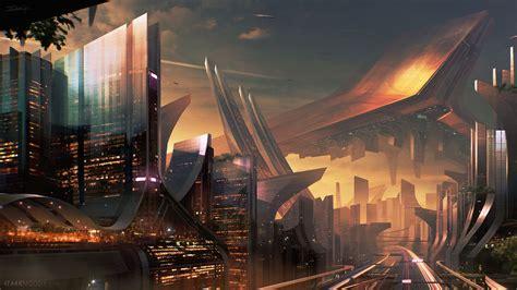 science fiction city hd laptop full hd p hd