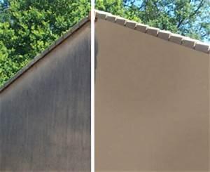 nettoyer une facade le roi de la bricole With nettoyage mur exterieur eau de javel