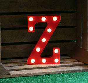 vintage carnival style marquee light light up letter z With marquee letter z
