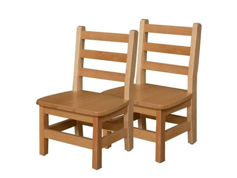ladder back wooden preschool chair set of 2 10 quot h seat 512 | WDE 81002T