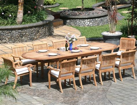 piece luxurious grade  teak dining set