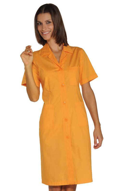 veste de cuisine femme blouse de travail femme abricot