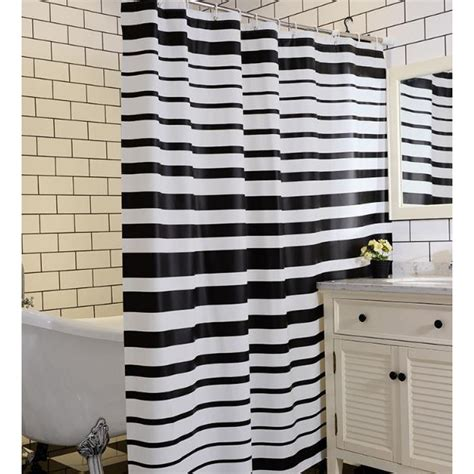 black and white horizontal striped curtains black and white horizontal stripe shower curtain curtain