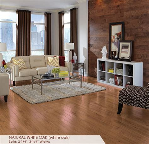 Somerset Color Strip Natural White Oak Hardwood Floors