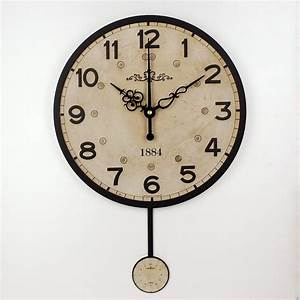 Silent large decorative wall clock modern design vintage