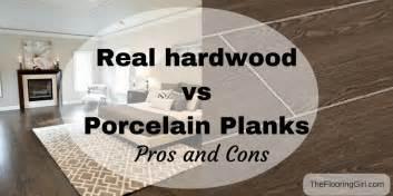 hardwood flooring vs tile planks that look like hardwood