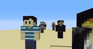 Youtuber Hand Built Statue Map Creation Minecraft