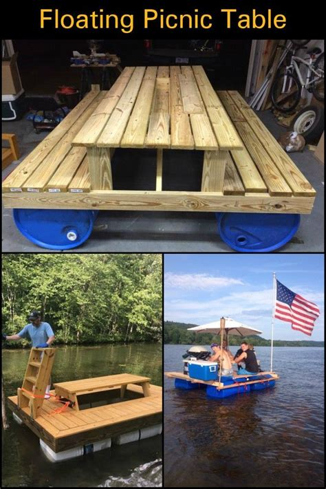 build  awesome floating picnic table furniture ideas