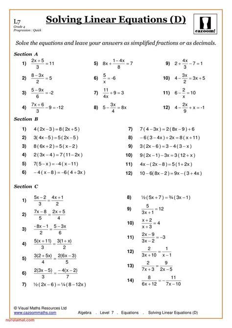 maths worksheets ks percentage   algebra
