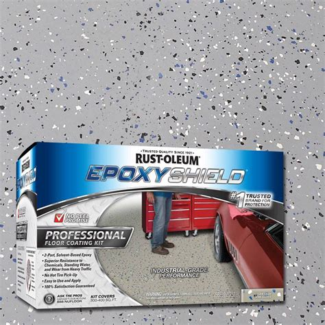 Rust Oleum Professional Garage Floor Coating Kit by Rust Oleum Shield Professional Semi Gloss Floor Coating