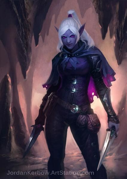 drow 5e dnd dungeons dragons dice artstation