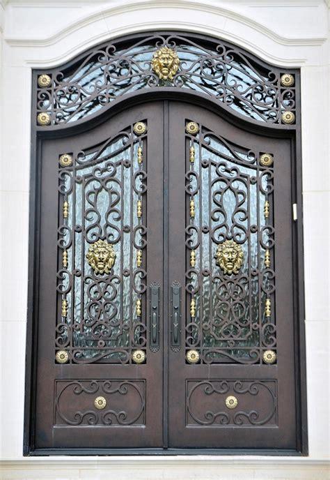 wrought iron door wrought iron door el1136 monarch custom doors
