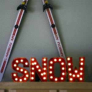 paper mache letters snow and chang39e 3 on pinterest With holiday marquee letters