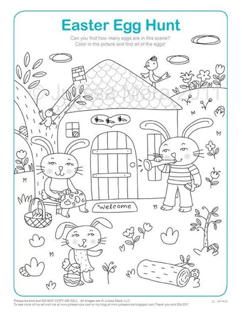 items similar to easter egg hunt coloring printable on etsy 839 | il 570xN.231420734