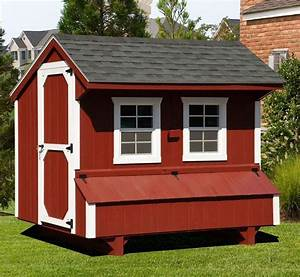 Backyard Poultry House Design Amish Red Quaker Chicken Coop 5 X 8 Fully Assembled