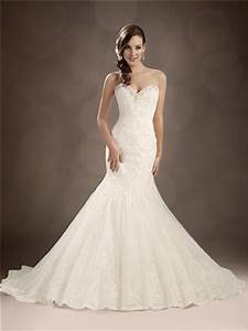 trumpet mermaid sweetheart chapel train beaded lace With trumpet lace wedding dress