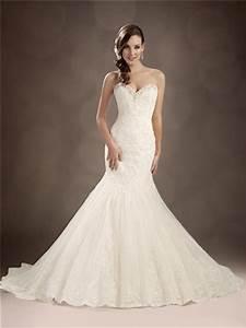 trumpet mermaid sweetheart chapel train beaded lace With mermaid trumpet wedding dress