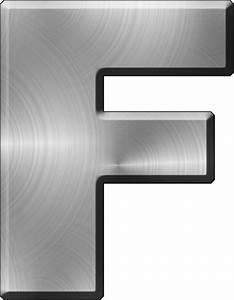 presentation alphabets brushed metal letter f With metal letter f