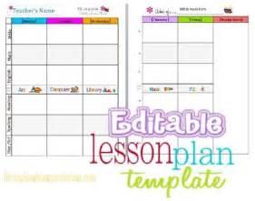 Free Editable Preschool Lesson Plan Template