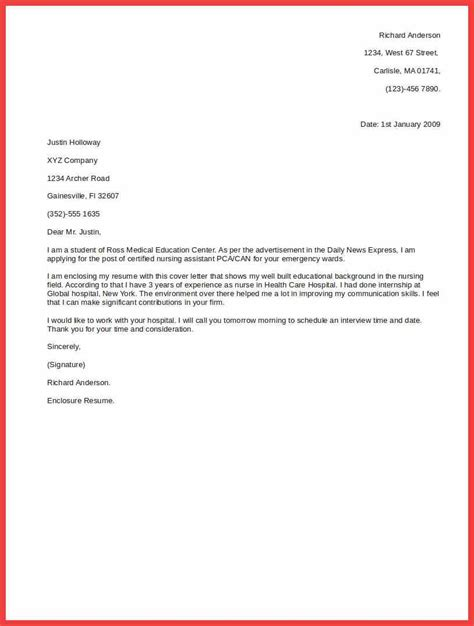 Simple Cover Letter Template Basic Cover Letter Outline Memo Exle