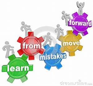 Learn From Mistakes Move Forward People Climbing Gears ...