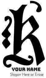 letter  monogram customize  instant