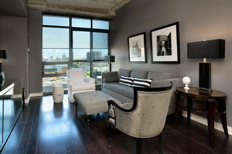 Small Condo Kitchen Ideas - janet williams interiors condo design contemporary living room toronto by arnal photography